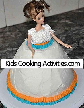 barbie dress decorated