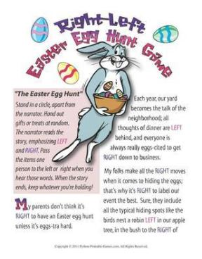 Easter Egg Hunt Right-Left Story
