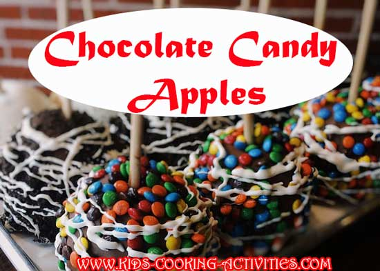 apples dipped in chocolate and candy