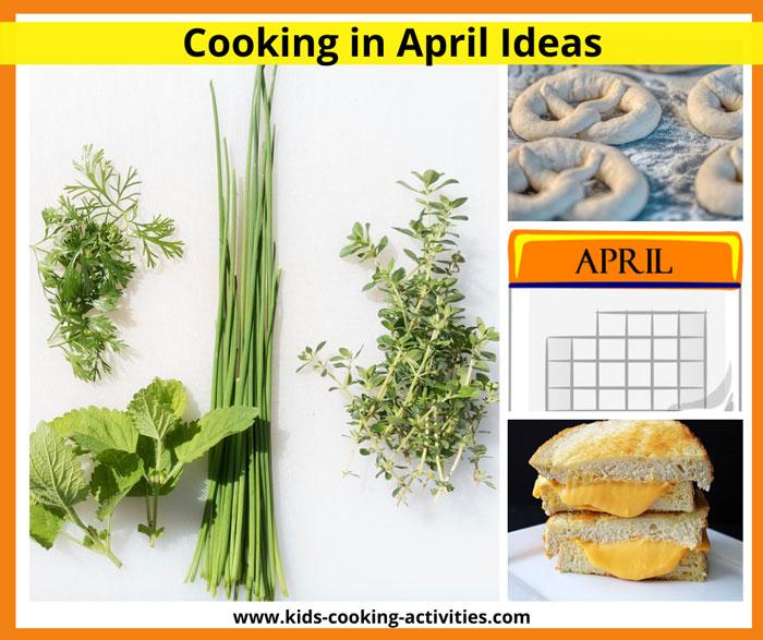 april cooking activities