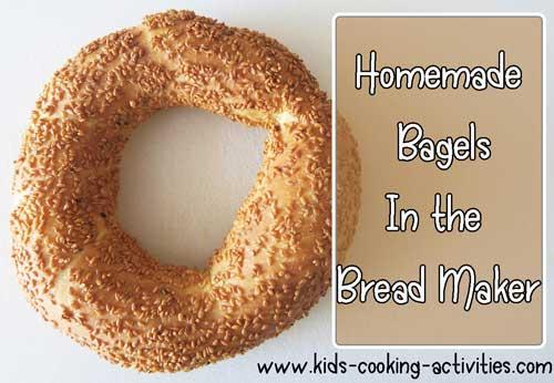 bread maker bagels