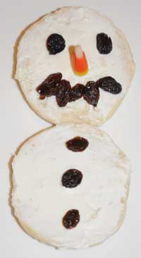bagel snowman