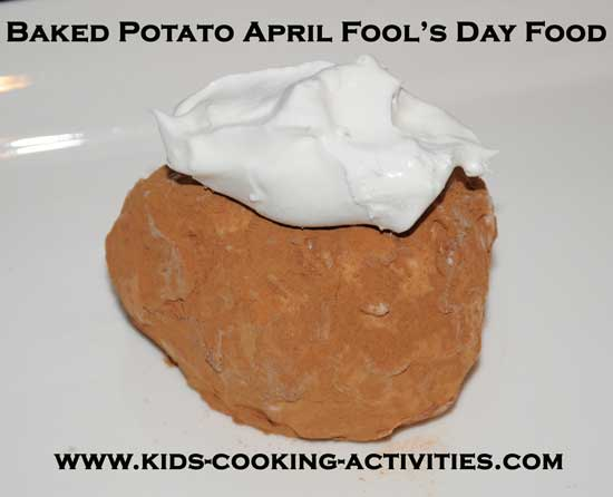 Baked potato april fool's