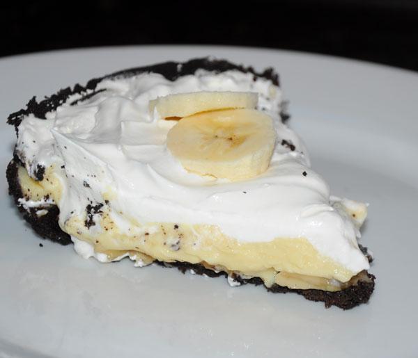 slice banana pie