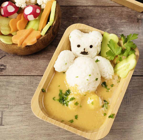 bear made out of rice