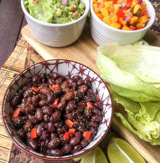 black beans wrap
