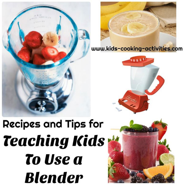 teaching kids to use a blender