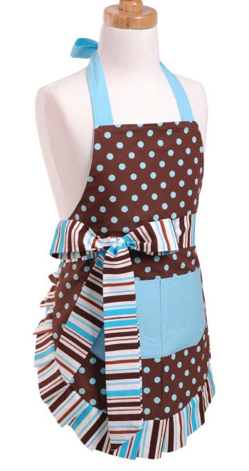 blue chocolate apron kids