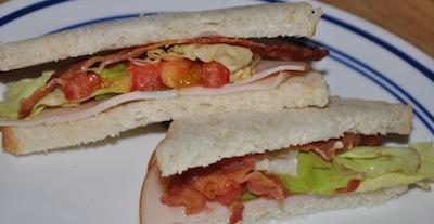 bacon tomato ham sandwich