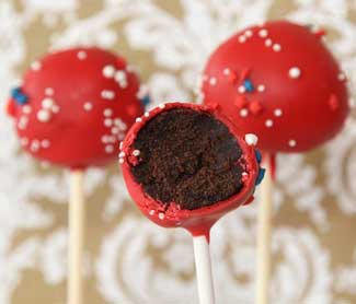 cake pops with a bite