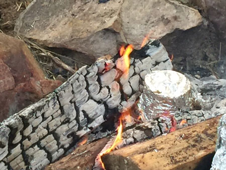 cooking in fire