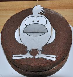cake pattern on cake