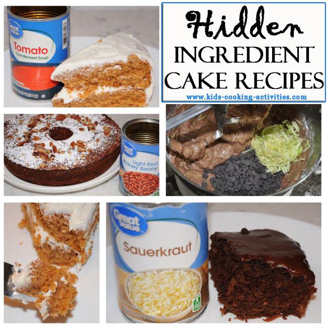 cakes with hidden ingredients