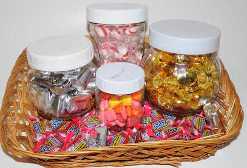 candy jar basket