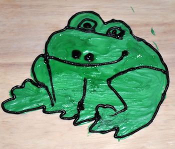 candy melt frog outline and detailed