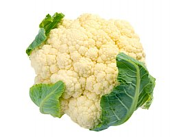 cauliflower food facts photo of a head of cauliflower