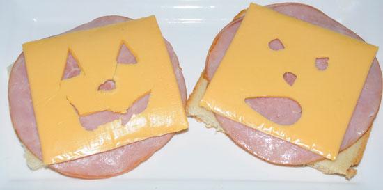 jack o lantern sandwich