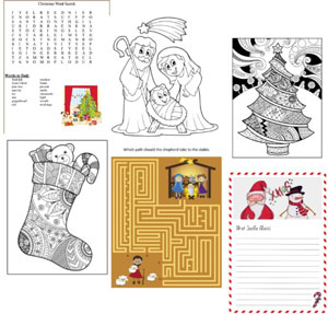 CHristmas printables games