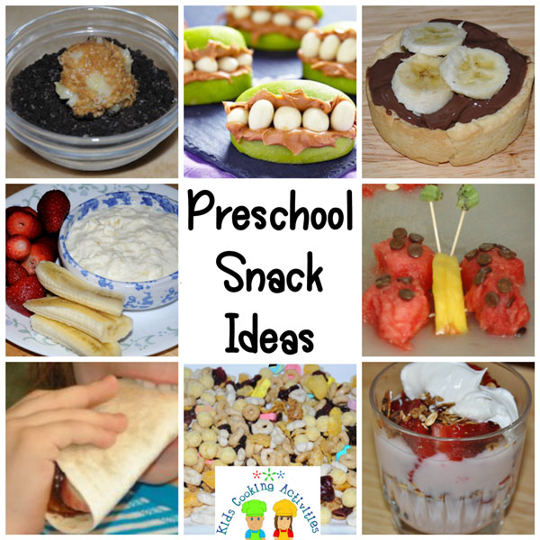 preschool recipes collage