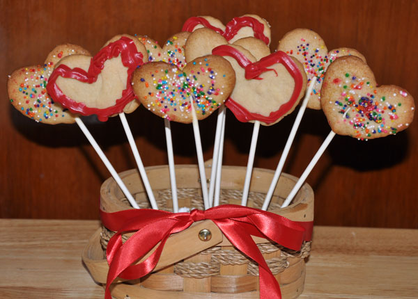 heart cookies  bouquet