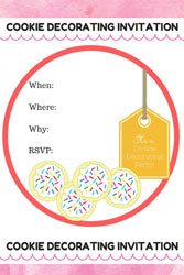 cookie party decorating invite