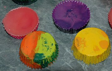 crayon muffins