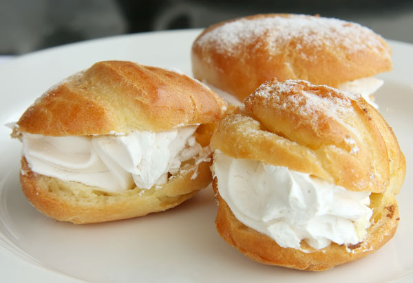 whipped cream puffs