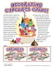 cupcake printable game