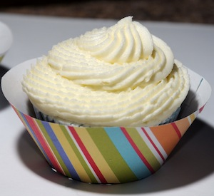 cupcake swirled with wrapper