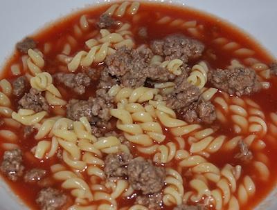 simple hamburger soup