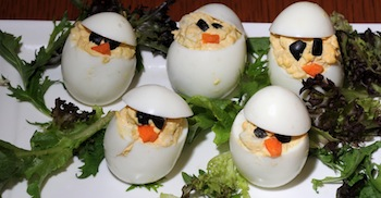 egg chicks platter