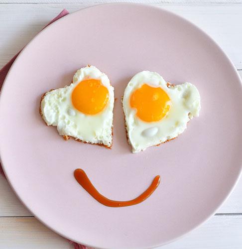 egg hearts