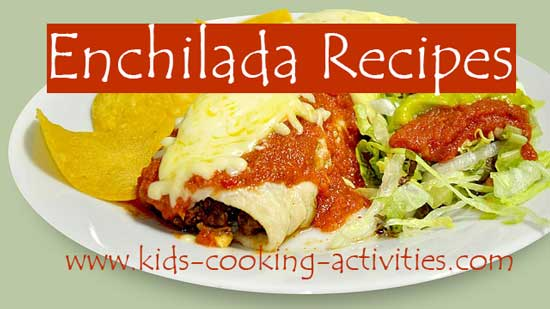 enchiladas with sauce plated