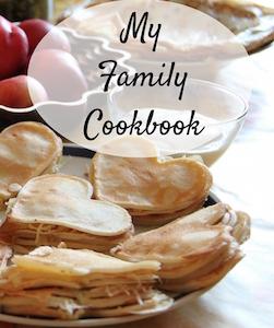 family cookbook blank journal