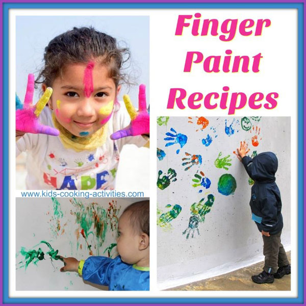 finger paint recipes