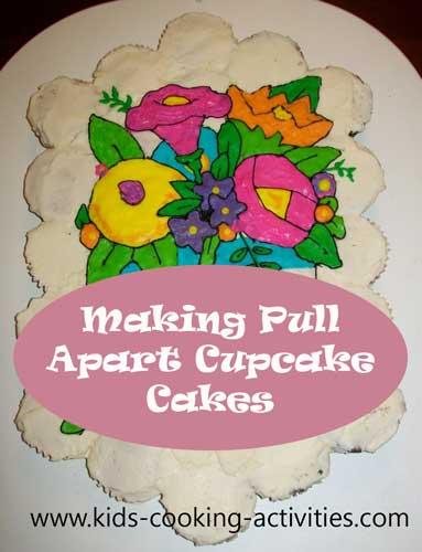 making pull apart cupcake cakes