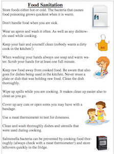 Food And Kitchen Safety And Sanitation Checklist