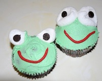 frog cupcake