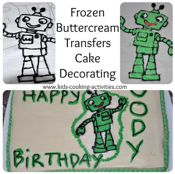 frozen buttercream cakes