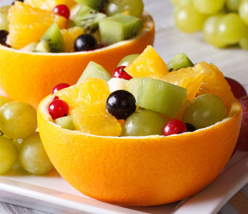 fruit salad orange cup