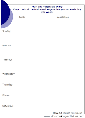 fruit and vegetable diary