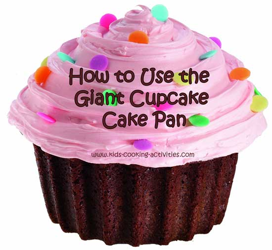 using giant cake pan