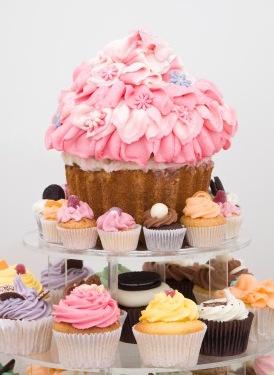 giant cupcake display