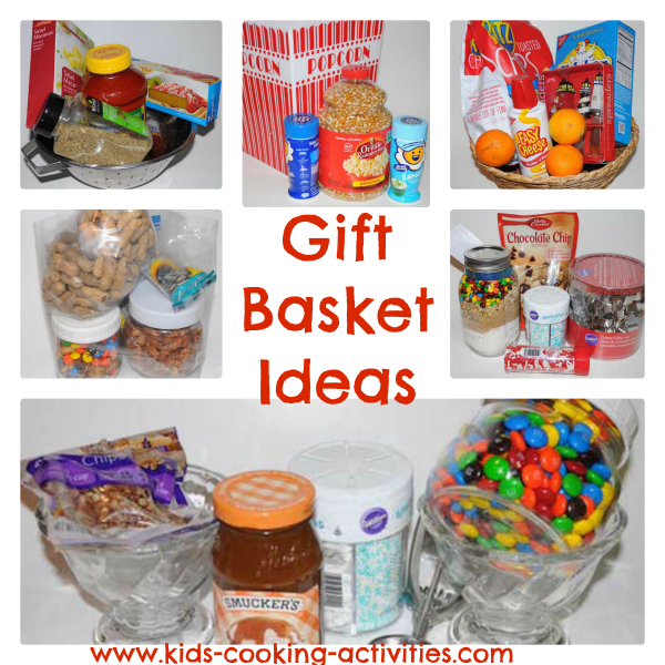 collage of gift basket ideas