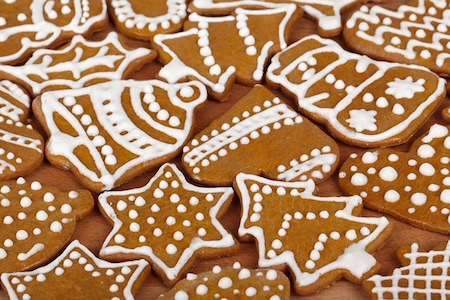 gingerbread cookies iced
