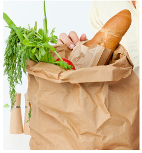 groceris in bag