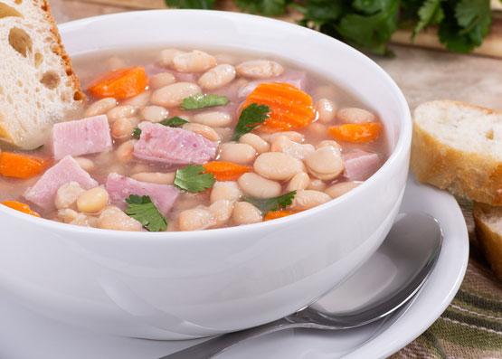 ham bean vegetable