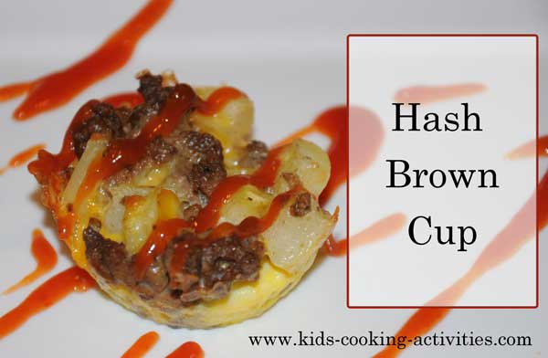 hash brown cup- muffin tin cooking