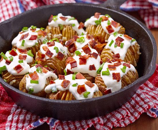 fanned potatoes
