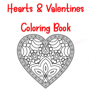 heart and valentine coloring pages